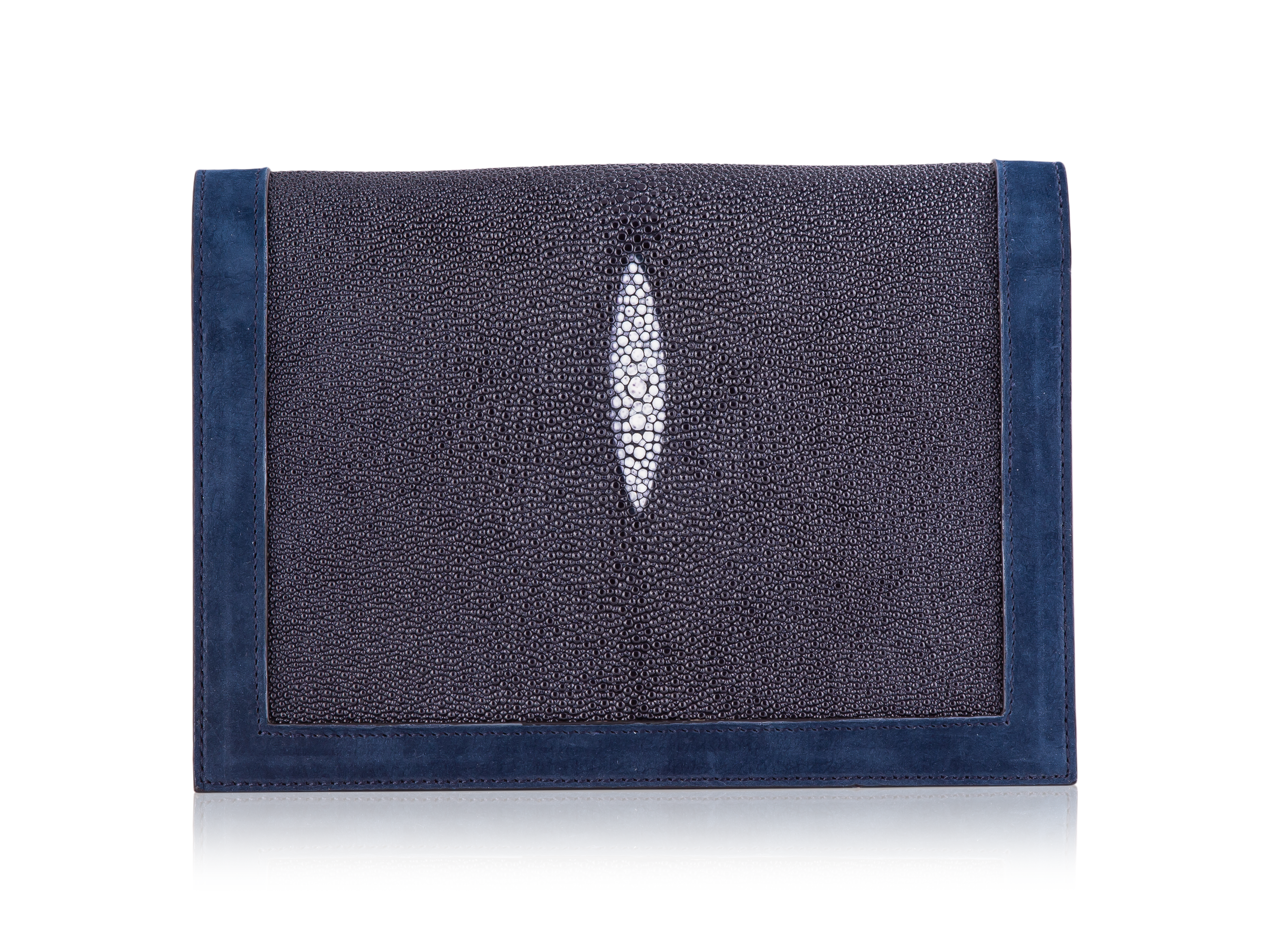Envelope Clutch - Navy Stingray