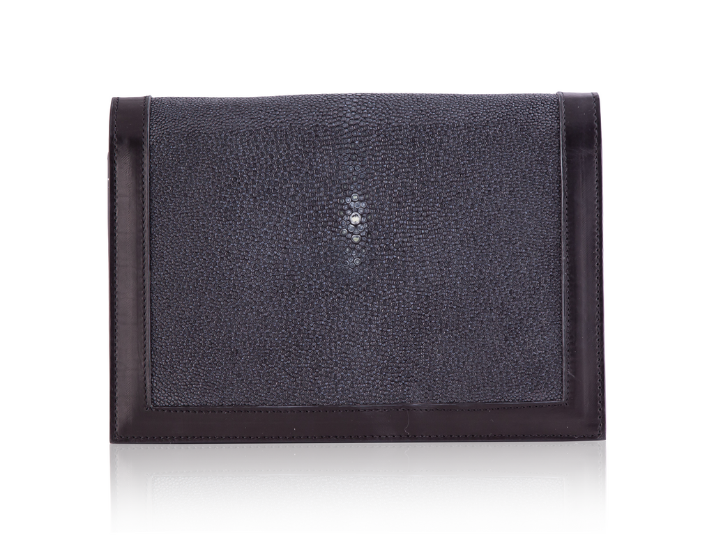 Envelope Clutch - Black Stingray