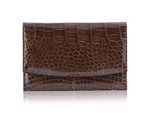 Envelope Clutch - Olive Alligator