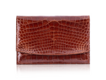 Envelope Clutch - Cognac Alligator