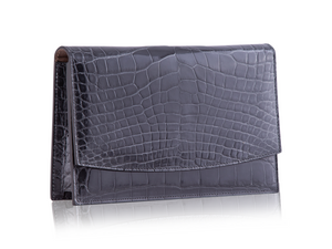Envelope Clutch - Anthracite Alligator