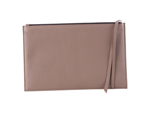 Large Zipper Pouch - Pebbled Leather