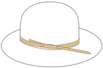 Sterling Silver Tip Hatbands