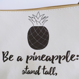 Black and White Pineapple Cosmetic Bag