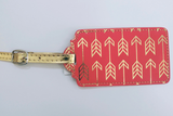 Rose and Gold-toned Vera Arrow Luggage Tag