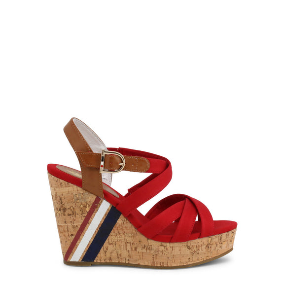 U.S. Polo Assn. - Red AYLIN Wedges - Women's Sandals - i Love Fashion 365 - Zovasa Global 365