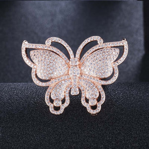 Luxury Style - Bling Butterfly Fashion Ring - Rose Gold or White Gold - Jewelry Accessories - i-love-fashion-365