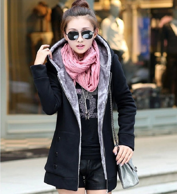 Womens Full Solid Winter Coat New High Quality Fashionable - Warm - Available in 6 Color Choices - i-love-fashion-365