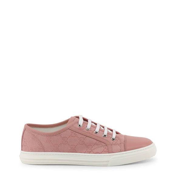 Gucci Old School Classic Pink or Blue Sneaker with Signature Double