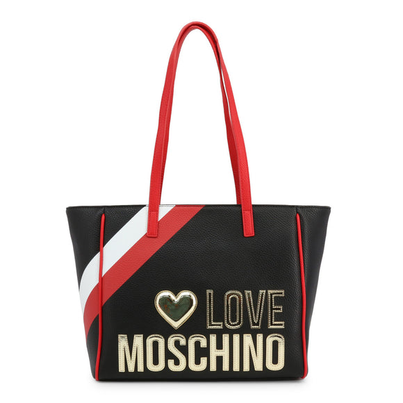 Love Moschino - Black, Red and White Designer Shoulder Bag - i Love Fashion 365 - Zovasa Casual