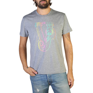 Versace Jeans - Men's Grey VJ Designer T-Shirt  - I Love Fashion 365 - Zovasa Global 365
