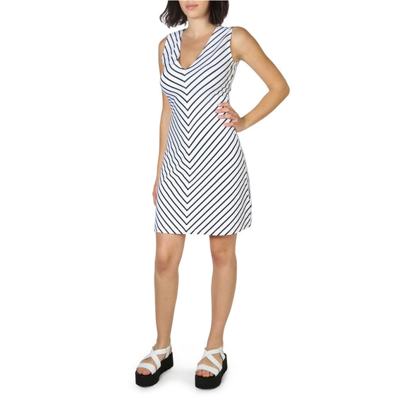Armani Jeans - Women's Casual Striped Knee Length Dress - i Love Fashion 365 - Zovasa Global 365