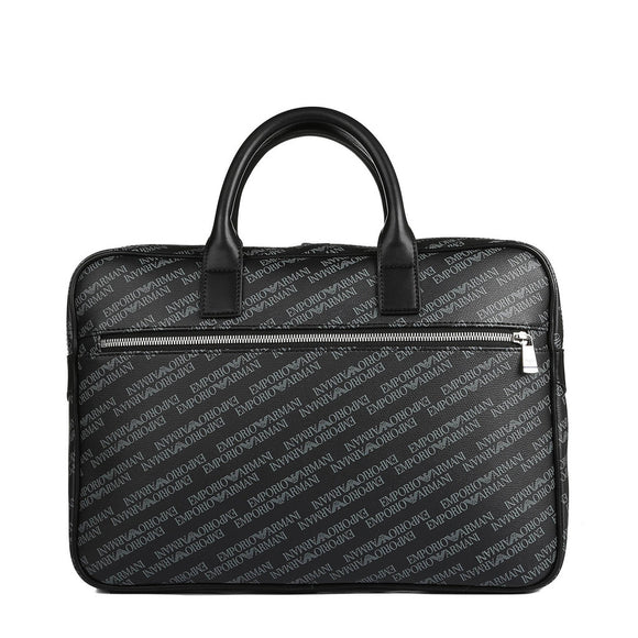 Emporio Armani -  Men's Logo Designed Black Briefcase  - i Love Fashion 365 - Zovasa Global