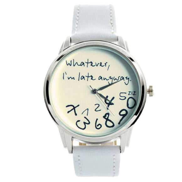 Women Leather Analog Quartz Watch - Stainless Steel -