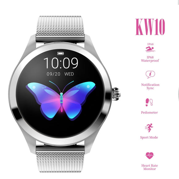 Women's Smart Watch (k10) - Waterproof Heart Rate Monitor Bluetooth For Android IOS Fitness Bracelet - i-love-fashion-365
