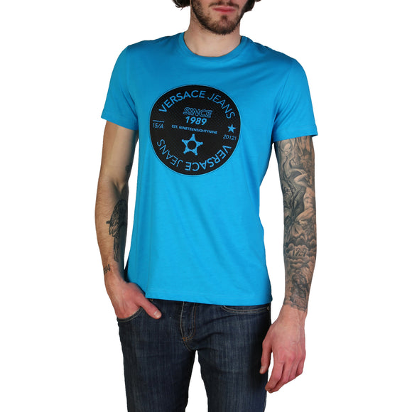 Versace Jeans - Men's Round Logo Designer T-Shirt - Multiple Color Options - i Love Fashion 365 - Zovasa Global 365