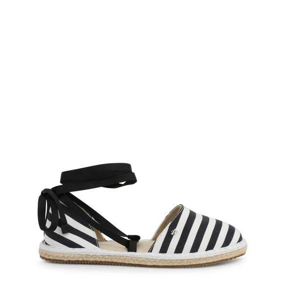 Armani Exchange - Women's Striped Closed Toe Tie Up Sandals - I Love Fashion 365 - Zovasa