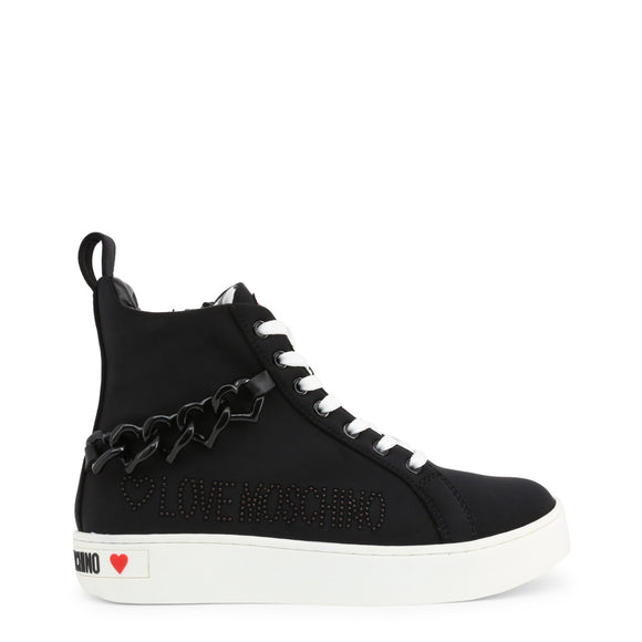 Love Moschino - Black High Top Sneaker's - i Love Fashion 365