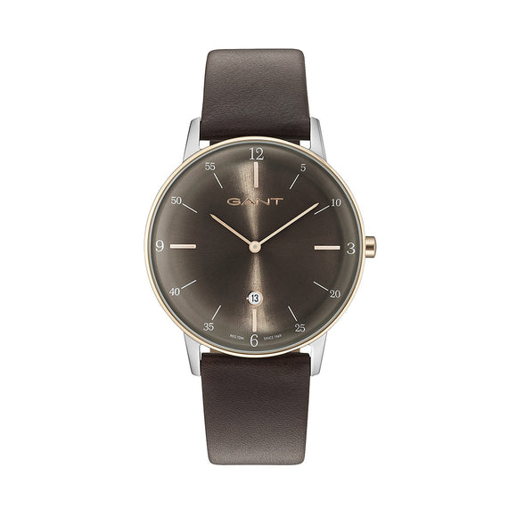 Gant Phoenix Watch - Men's Quartz Watch with Brown Leather Band