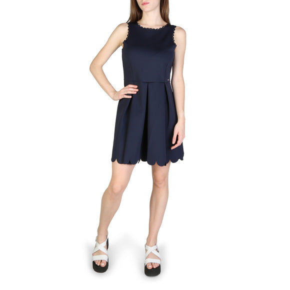 Armani Exchange - Women's Solid Sleeveless Navy Blue Dress - i Love Fashion 365 - Zovasa Global