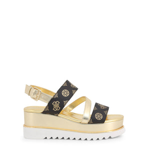 Guess - Black and Yellow Gold Wedges - Women's Sandals - i Love Fashion 365 - Zovasa