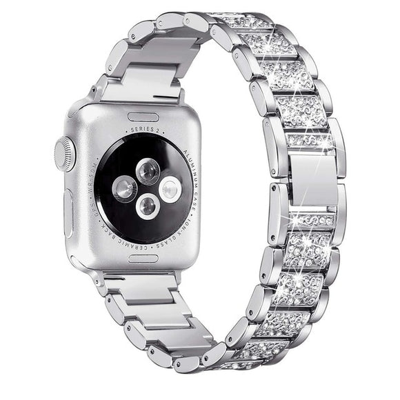 Elegant Diamond Crystal Watch Band For Apple Watch - 40mm 44mm 38mm 42mm - Apple Watch Series 4 3 2 1 - Watch Bracelet Stainless Steel Strap - i-love-fashion-365