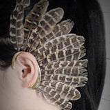 Fashion Feather with Flair - Gold Clip Ear Cuff - i-love-fashion-365