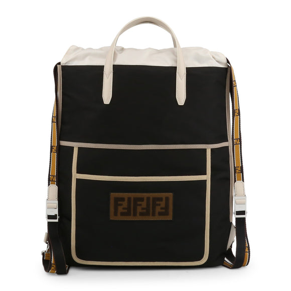 Fendi - Black Unisex Backpack with Tan/Beige Accents - i-love-fashion-365