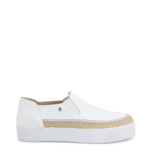 Armani Exchange - Women's Flat Slip-On Sneakers - White - i Love Fashion 365 - Zovasa