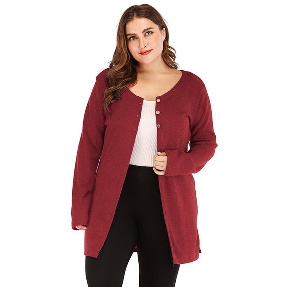 Women's Casual Solid Partial Button Down Cardigan - i-love-fashion-365