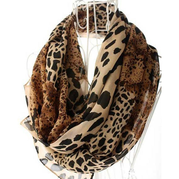 New Women Trendy Shawls Leopard Printed Soft Long Wrap Scarf Ladies Thin Scarves Breathable Neckerchief Wraps - i-love-fashion-365