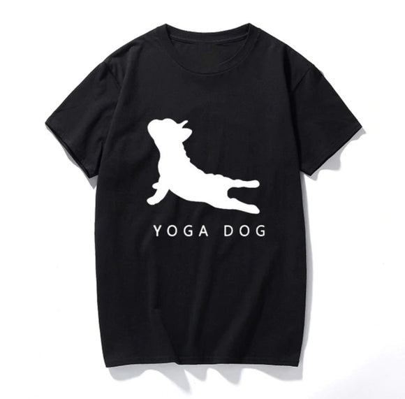 Women's Yoga Dog T-Shirt Fashion Tee - Available in Five Colors - i-love-fashion-365