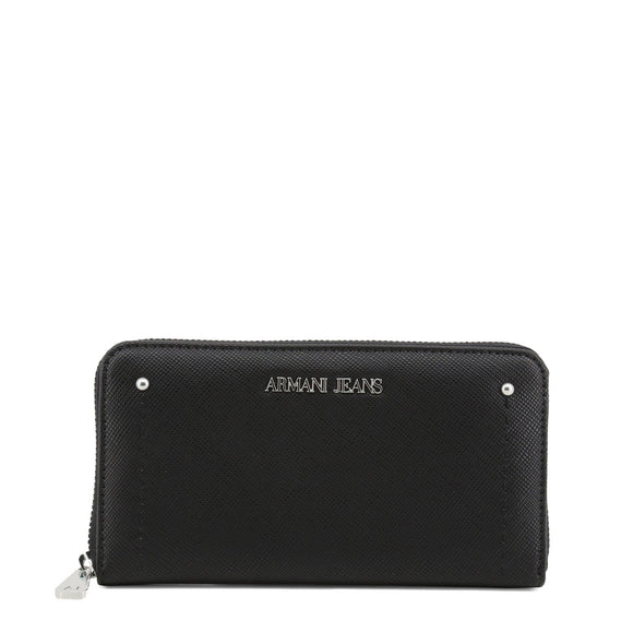 Women's Armani Jeans Black Zip Wallet - i-love-fashion-365