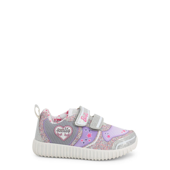Barbie - Girls Glitter Velcro Sneakers - Smile - Kids Shoes