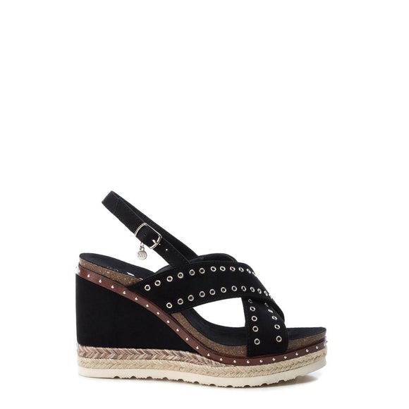 Xti - Espadrille Slingback Studded Wedge Sandals
