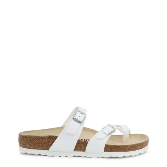Birkenstock - Women's White MAYARI Buckle Sandals - Flip Flops - Sandals - i Love Fashion 365 - Zovasa