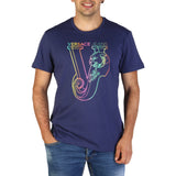 Versace Jeans - Men's Blue VJ Designer T-Shirt  - I Love Fashion 365 - Zovasa Global 365