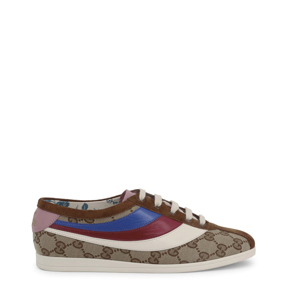 Gucci - Women's Brown Leather Falacer Sneakers  - I Love Fashion 365 - Zovasa