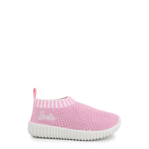 Barbie - Girls Solid Pink Slip On Sneakers - I Love Fashion 365 - Zovasa