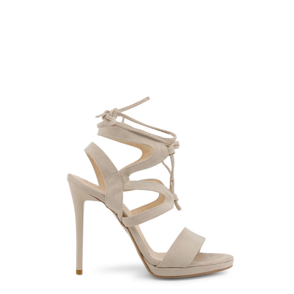 Strappy Suede Tie-up High Heel Sandals by Arnaldo Toscani - i-love-fashion-365