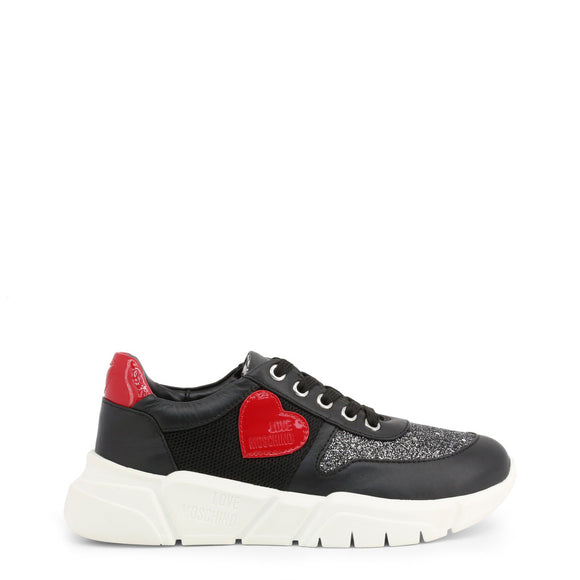 Love Moschino - Black Casual Shimmer Sneakers