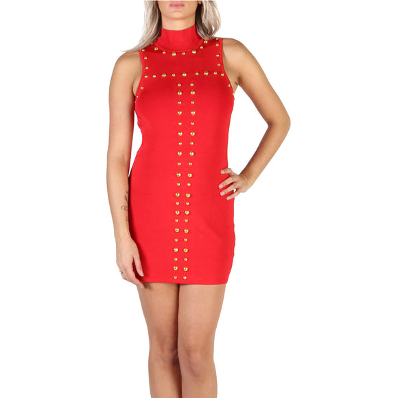GUESS - Black or Red - Short Studded Mini Dress - I Love Fashion 365 - Zovasa