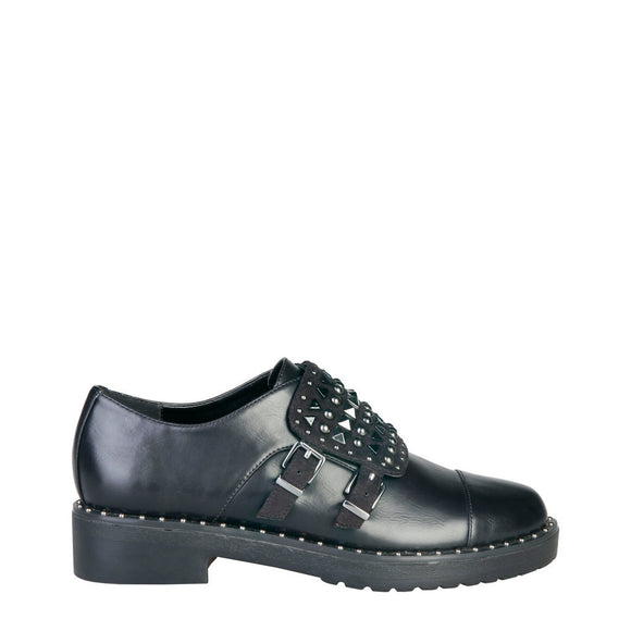 Ana Lublin - LINN Studded Thick Buckle Covered Flat Shoes