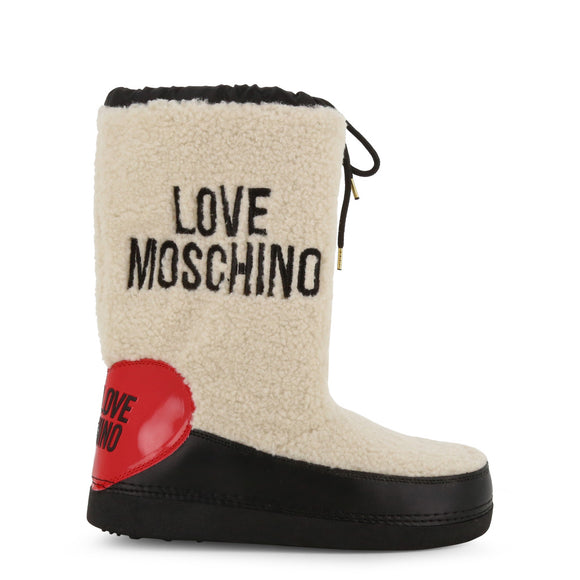 Love Moschino Fuzzy Snow Boots by Moschino