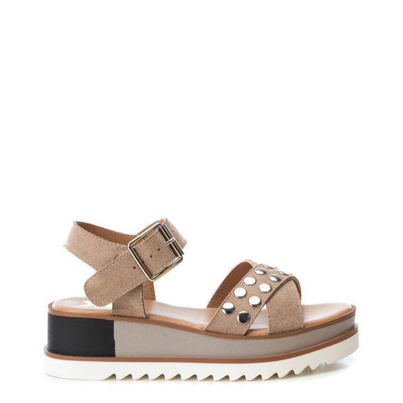 Xti - Studded Sports Wedge Sandal