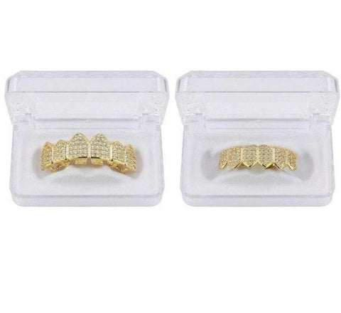 Hip Hop Teeth Grillz Pure Gold Plated - VolcanoNation.com
