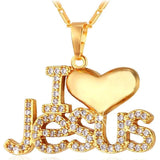 """I Love Jesus"", Pendant & Chain For Men/Women - VolcanoNation.com"