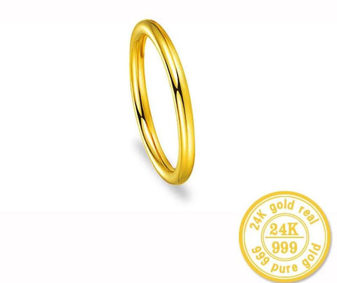 24k Gold Circle Ring Smooth Surface - VolcanoNation.com