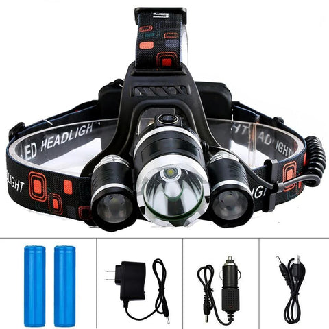 LED Headlamp 4 Mode Waterproof Hands-free Headlight - VolcanoNation.com