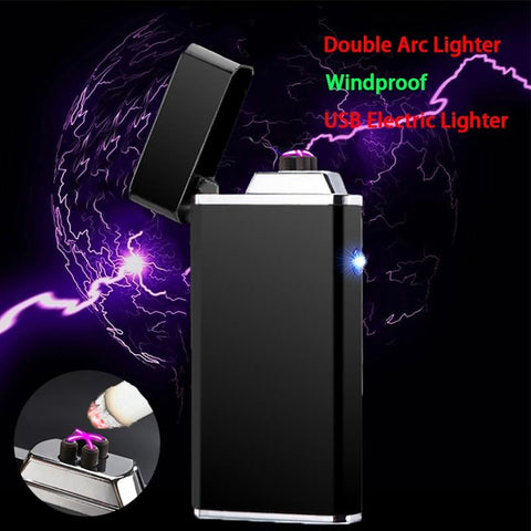 Lighter USB Electric Double Arc Rechargeable Lighter - VolcanoNation.com